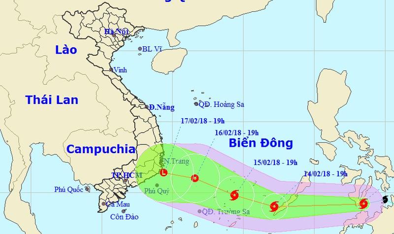 Bão vẫn di chuyển nhanh, sẽ suy yếu thành áp thấp nhiệt đới trên biển