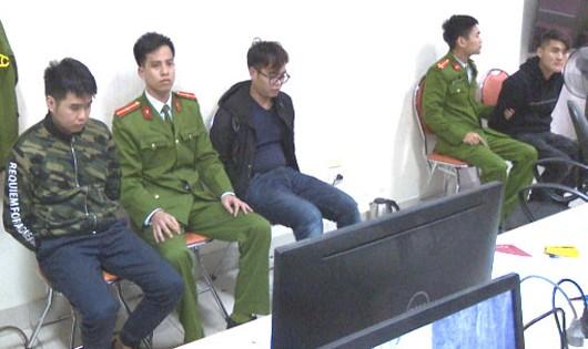Các đối tượng liên quan đến vụ án. Ảnh: Cổng thông tin điện tử Công an Quảng Ninh.