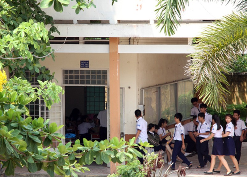 Học sinh trường THPT Long Thới (huyện Nhà Bè, TP HCM). Ảnh: Mạnh Tùng.