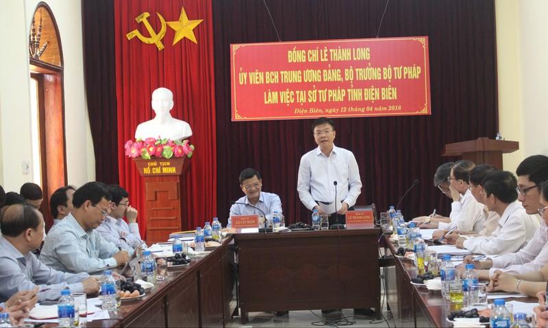 Bộ trưởng Lê Thành Long 'gỡ' khúc mắc cho tư pháp, THADS Điện Biên