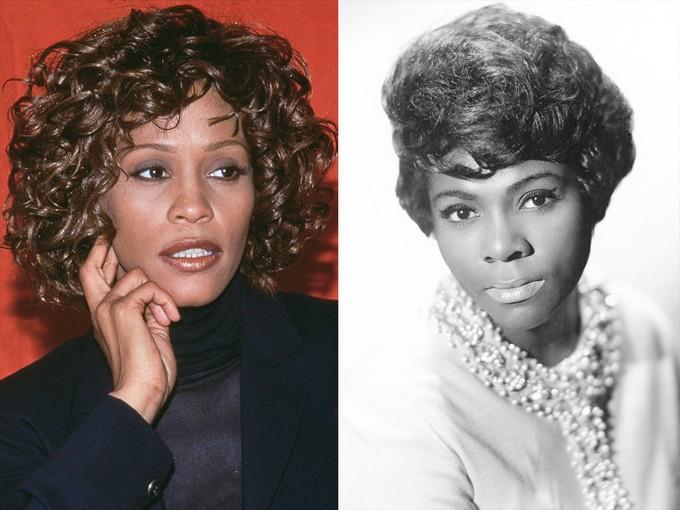 Whitney và người chị họ Dee Dee Warwick.