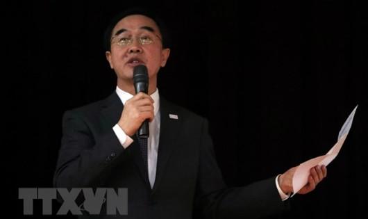 Bộ trưởng Bộ Thống nhất Hàn Quốc Cho Myoung-gyon. (Nguồn: Yonhap/TTXVN)