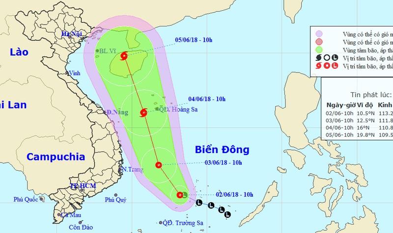 Áp thấp nhiệt đới khả năng mạnh thành bão hoành hành biển Đông