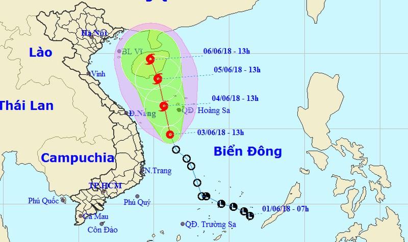ATNĐ khả năng thành bão đổ bộ vùng biển Hoàng Sa, Trung Trung bộ mưa lớn