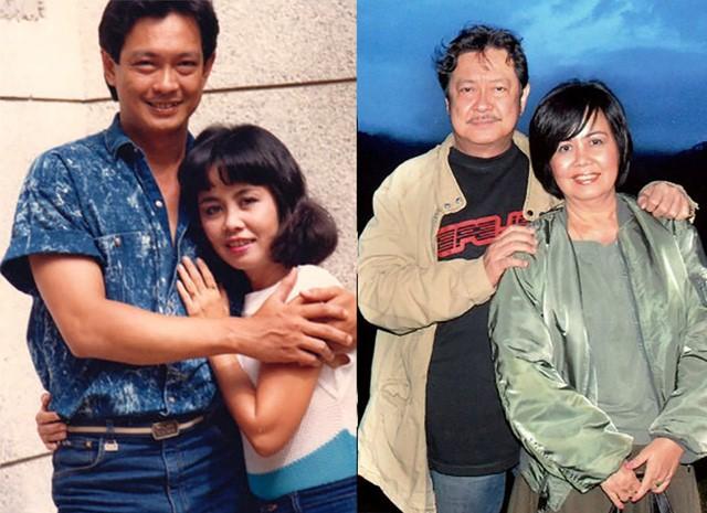 Hình ảnh vợ chồng nghệ sĩ Nguyễn Chánh Tín thời trẻ cho đến hiện tại vẫn gắn bó bên nhau dù trải qua rất nhiều sóng gió.