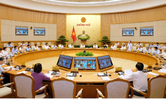 Toàn cảnh phiên họp Chính phủ thường kỳ tháng 6. Ảnh: Cổng thông tin Chính phủ.