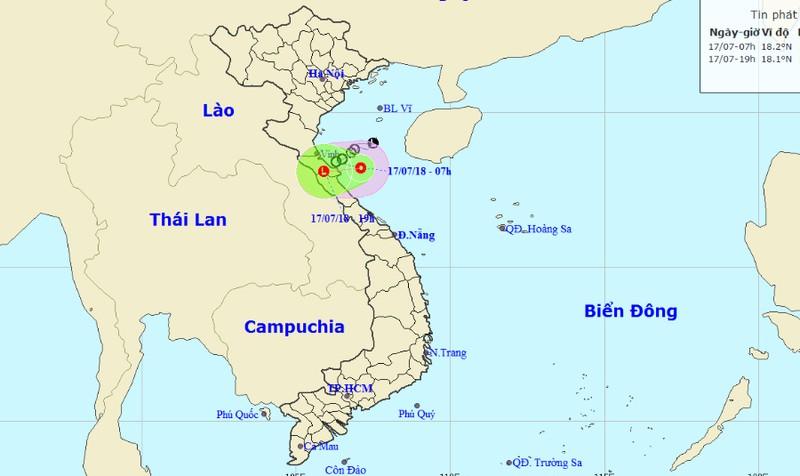 Áp thấp nhiệt đới đang hoành hành vùng biển Nghệ An - Quảng Bình