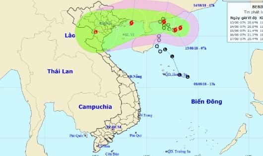 Bão gần vùng biển Quảng Ninh - Nam Định, Bắc bộ sắp mưa lớn