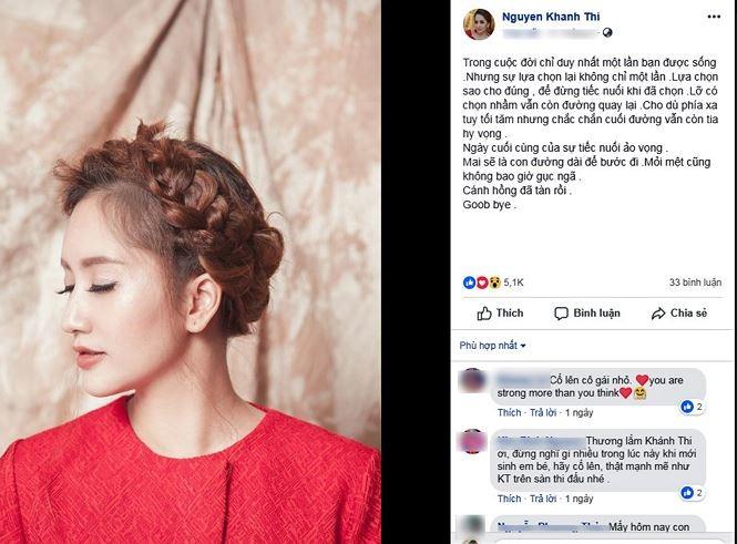 Khánh Thi liên tục đăng tải status buồn bã và muốn buông bỏ tình yêu? - ảnh 1