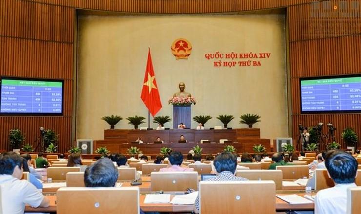 Quốc hội biểu quyết thông qua Luật Trách nhiệm bồi thường nhà nước năm 2017 tại Kỳ họp thứ 3 Quốc hội khóa XIV