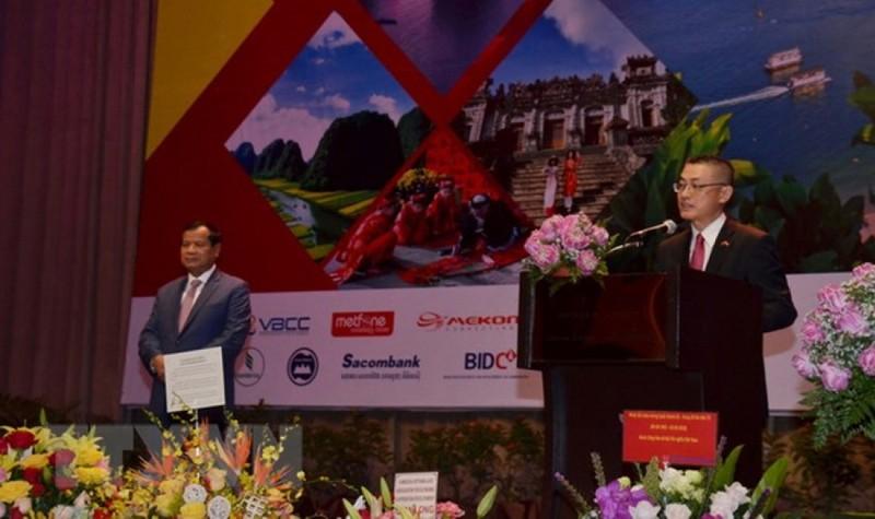 Đại sứ Việt Nam tại Campuchia Vũ Quang Minh phát biểu tại buổi kỷ niệm 73 năm Quốc khánh Việt Nam tại Campuchia