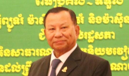 Quyền Chủ tịch Thượng viện Campuchia Samdech Say Chhum. Ảnh: TTXVN