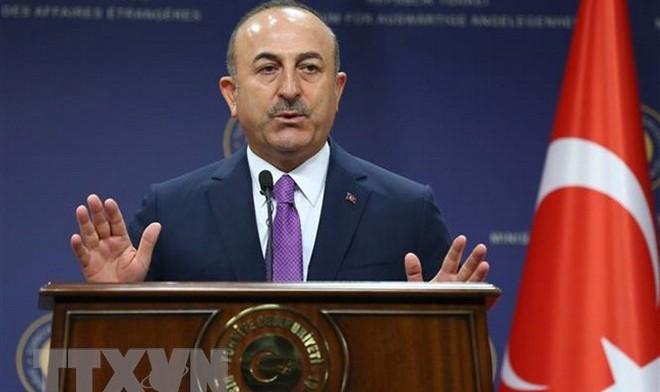 Ngoại trưởng Thổ Nhĩ Kỳ Mevlut Cavusoglu. (Ảnh: AFP/TTXVN)