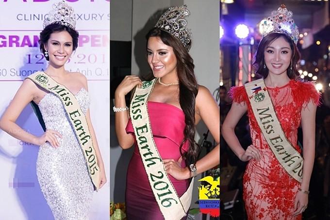Khác với Phương Khánh, các hoa hậu tiền nhiệm đều thường xuyên sử dụng thiết kếđắt giá này. Miss Earth 2015 và 2017 đội vương miện khi sang Việt Nam tham gia một sự kiện nhãn hàng trong nhiệm kỳ, riêng Miss Earth 2016 khi trở về quê nhà Ecuador sau đăng quang cũng xuất hiện cùng vương miện.