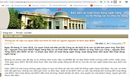 Ông Trần Bắc Hà bị bắt, Ngân hàng Nhà nước nói gì?