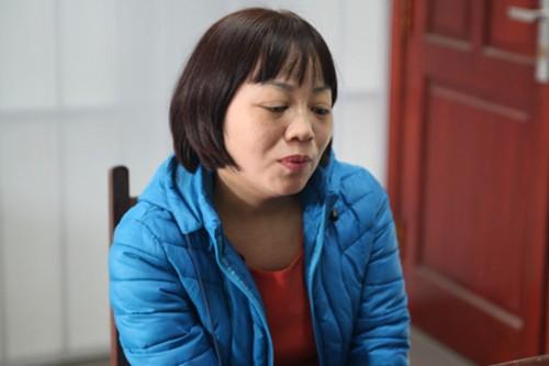Nữ phóng viên tại cơ quan điều tra. Ảnh: Minh Thuý.