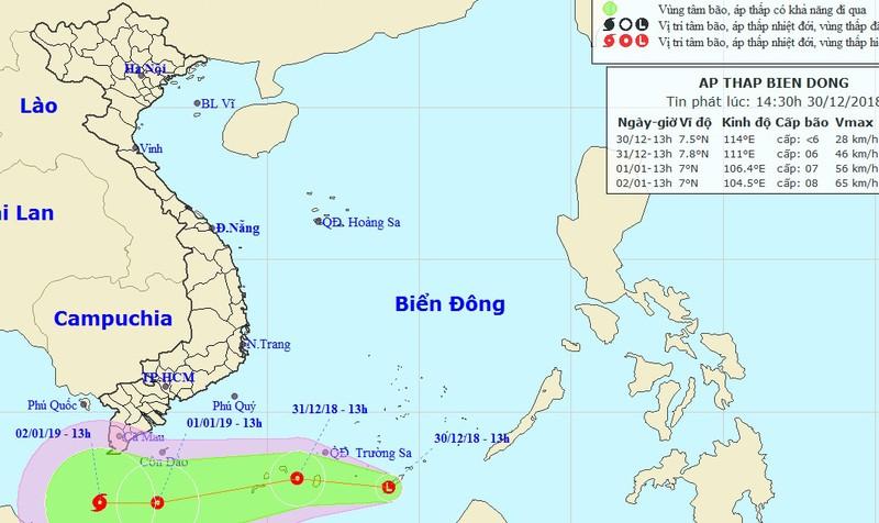 Xuất hiện áp thấp mạnh trên biển Đông, mũi Cà Mau đề phòng ảnh hưởng bão