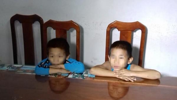 Hai tên trộm nhí. Ảnh: Công an tỉnh Trà Vinh.