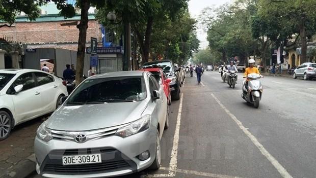 Nhiều tuyến phố của Hà Nội sẽ tạm thời không trông giữ phương tiện trong thời gian diễn ra Hội nghị thượng đỉnh Mỹ-Triều. (Ảnh: Nguyễn Hằng/Vietnam+)