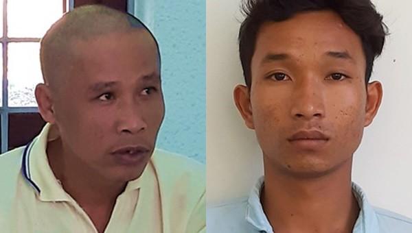 Nguyễn Thanh Tuấn (bên phải) và Nguyễn Văn Về (bên trái).