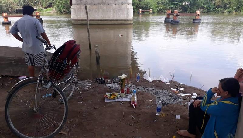 Khu vực em Huỳnh Bảo Toàn gặp nạn. Ảnh: Báo Long An