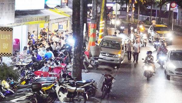 Hình ảnh ghi nhận tại  đường Hoàng Sa (TP HCM). Ảnh: Quang Huy/Sài Gòn giải phóng.