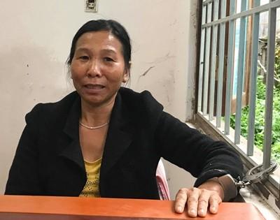 Nghi phạm Nghiêm Thị Nhi tại Công an huyện Lâm Hà chiều nay