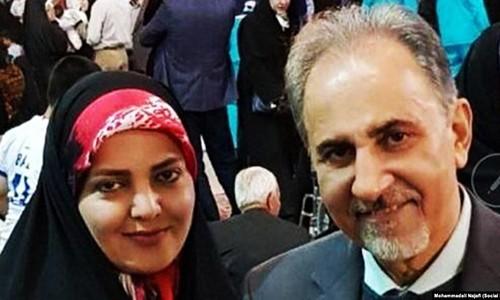 Ông Mohammad Ali Najafi (phải) và vợ hai Mitra Najafi. Ảnh: Social Media.