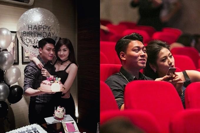 Về chuyện tình cảm, Dương Bảo Hưng công khai hẹn hò Á hậu Tú Anh vào cuối năm 2016. Dịp sinh nhật 23 tuổi của Tú Anh, cặp đôi có chuyến du lịch đến Maldives. Cả hai cũng xuất hiện tình tứ trong một đêm nhạc của ca sĩ Hồ Ngọc Hà (phải).