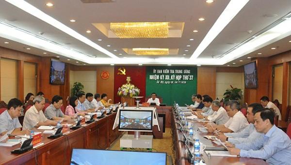 Toàn cảnh kỳ họp 37 của Ủy ban Kiểm tra Trung ương.