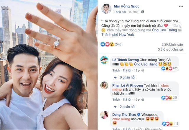 Đông Nhi hạnh phúc khoe nhẫn cầu hôn của Ông Cao Thắng - 2