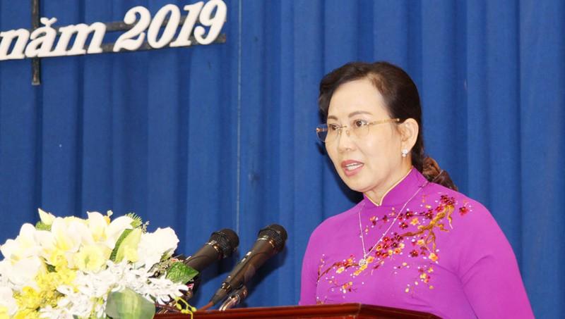 Tân Bí thư Tỉnh ủy Hà Nam Lê Thị Thủy.