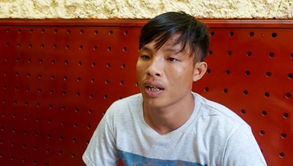 Đối tượng Thuận tại Cơ quan điều tra. Ảnh: Công an tỉnh An Giang.