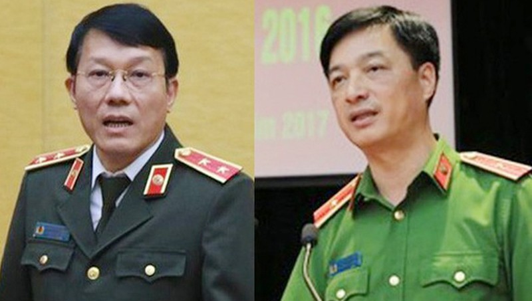 2 tân Thứ trưởng Bộ Công an Lương Tam Quang và Nguyễn Duy Ngọc.