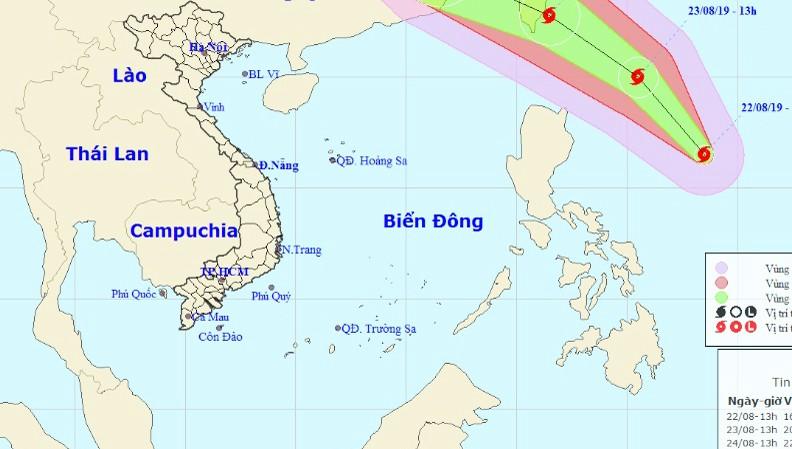 Xuất hiện bão mạnh gần biển Đông