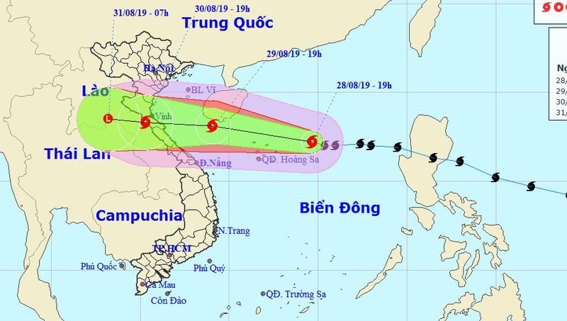 Chiều tối 30/8, bão giật cấp 11 khả năng đổ bộ Thanh Hóa - Quảng Bình