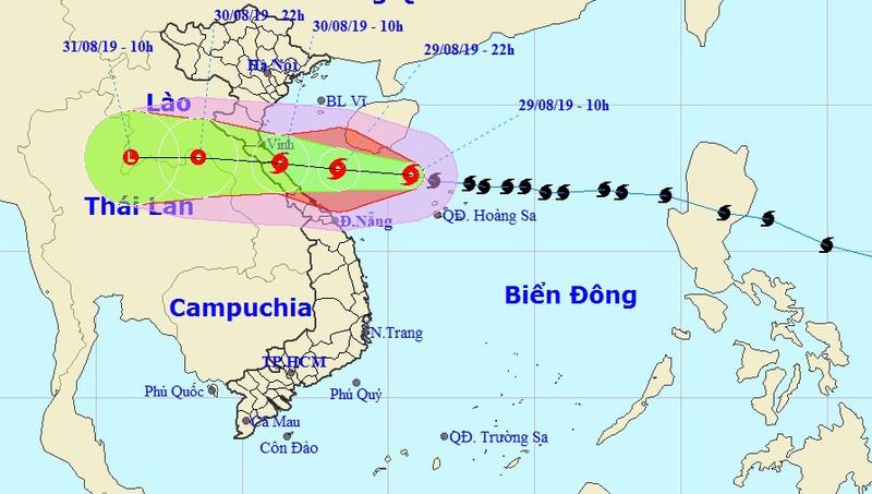 Bão chuyển hướng, sáng mai khả năng đổ bộ Nghệ An - Quảng Bình