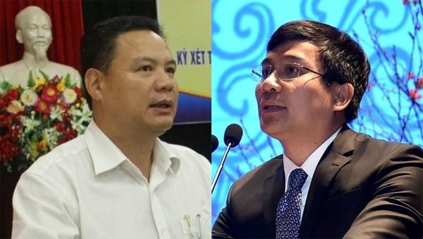 Ông Lê Văn Thanh (bên trái) và ông Nguyễn Minh Vũ (bên phải)