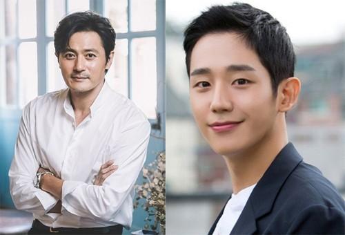 Hai diễn viên Jang Dong Gun (trái) và Jung Hae In.