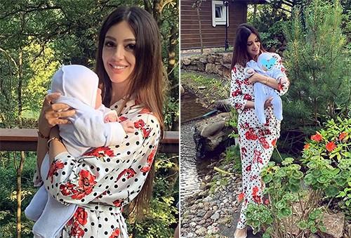 Rihana Oksana Veovodina đăng ảnh cùng con trai giữa thông tin ly hôn. Ảnh: Instagram