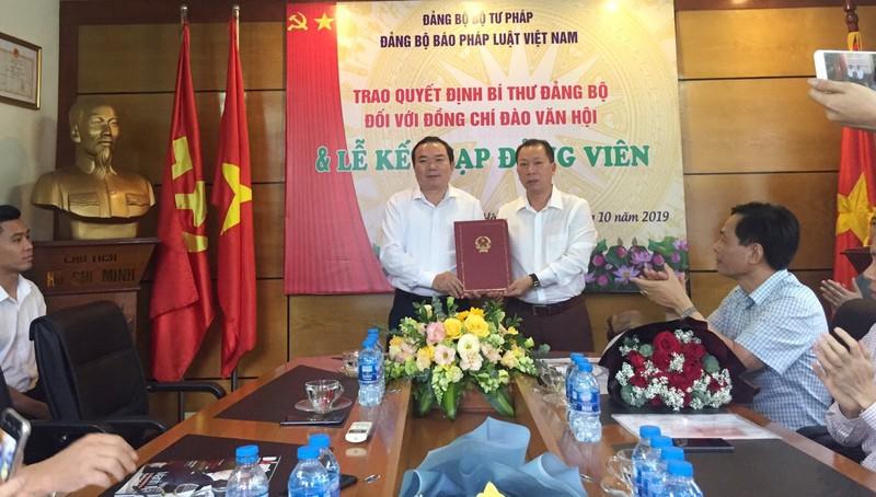Tiến sỹ, Tổng biên tập Đào Văn Hội đảm nhiệm Bí thư Đảng ủy Báo Pháp luật Việt Nam