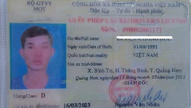 Phát hiện tài xế ô tô khách sử dụng giấy phép lái xe giả