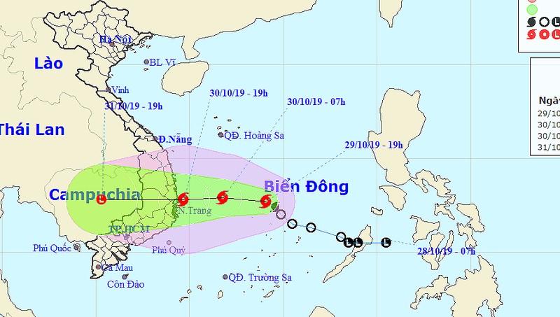 Ngày mai bão mạnh đổ bộ Bình Định-Ninh Thuận