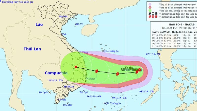 Bão cực mạnh đang hướng vào Quảng Ngãi - Khánh Hòa