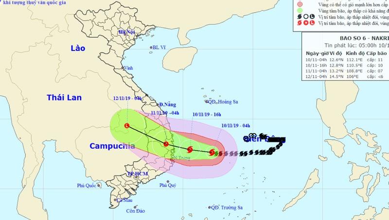 Bão giật cấp 13 tiến gần Quảng Ngãi đến Khánh Hòa, cảnh báo lũ quét, ngập lụt diện rộng