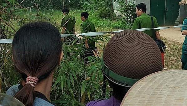 Khu vực nơi nạn nhân bị bắn chết. Ảnh Nhị Tiến/VietNamNet.