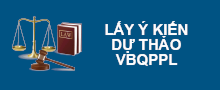 Lấy ý kiến dự thảo văn bản quy phạm pháp luật