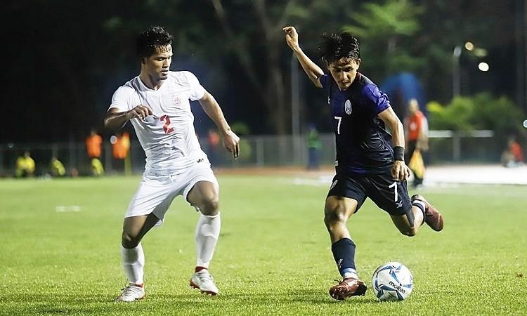 Nếu Chanthea không thể thi đấu, thay thế anh là số 7 Piseth Mao - cầu thủ có lối đá tương đồng. Ảnh: CFF.