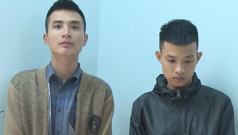 Đối tượng Hoàng Văn Phong (bên trái) và Nguyễn Văn Cường. Ảnh: Công an tỉnh Thanh Hóa.