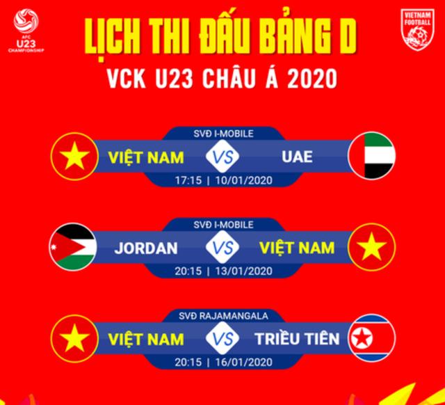 HLV Park Hang Seo chốt số áo chính thức cho U23 Việt Nam - 3
